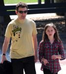 EXCLUSIVE: Michael Sheen Takes His Daughter To The Park