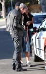 Kellan Lutz Visits A Friend And Then Heads To The Airport